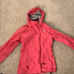 Women's Pink north face jacket